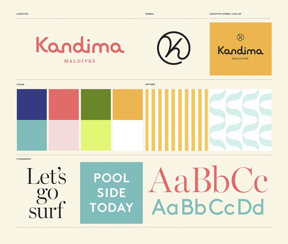 New  logo  and Identity for Kandima by Snask