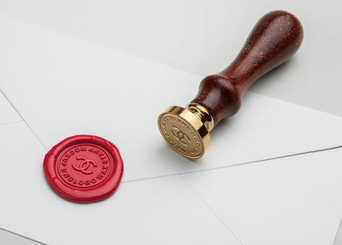 Wax Seal Stamp Free MockUp, chanel logo